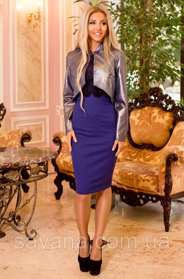 cdcd901a497 Купить Женское комплект  платье с отделкой и болеро в расцветках. ПН ...