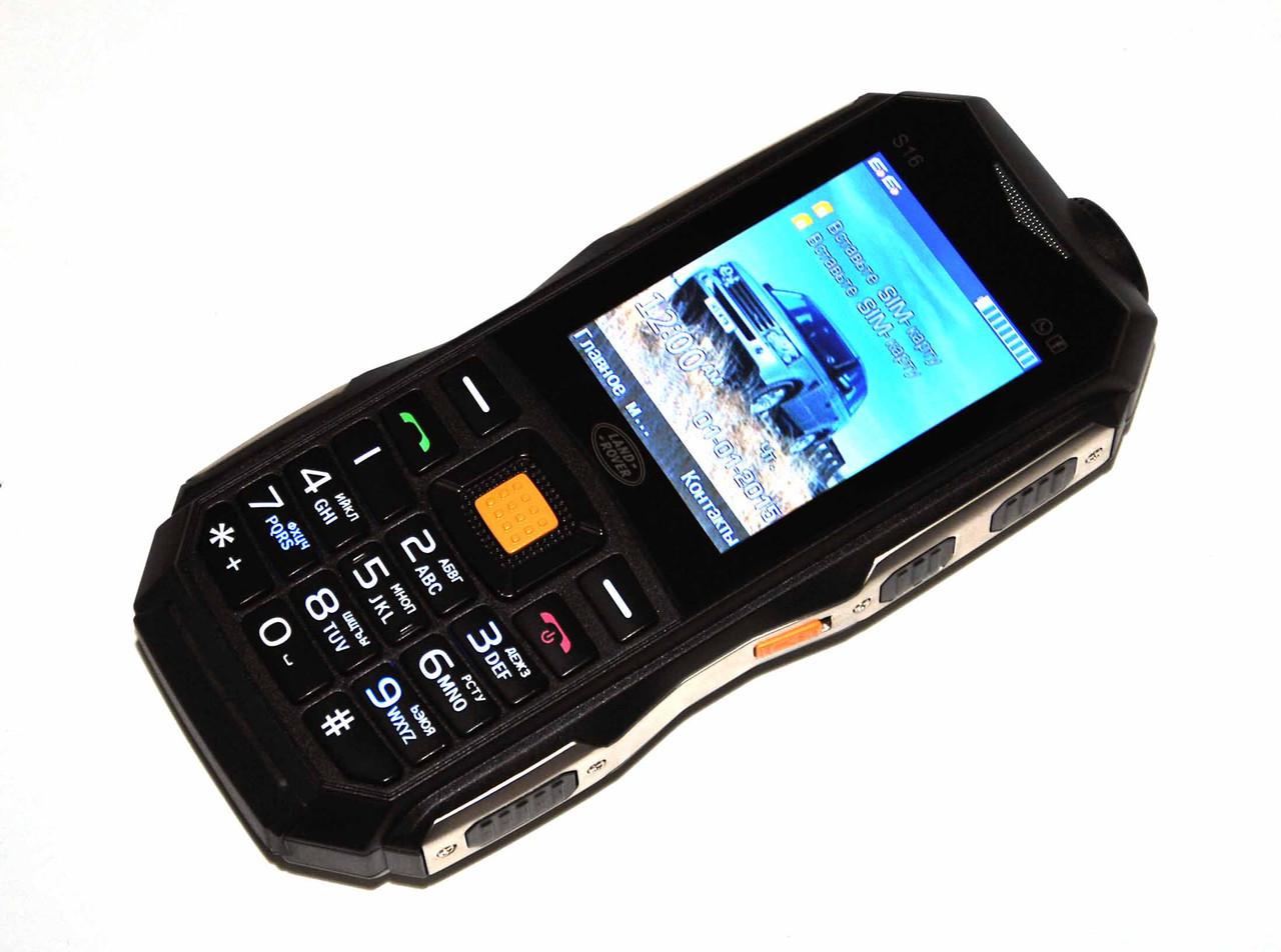 Телефон противоударный S16 с 2SIM с POWER BANK 10000mAh черный, зеленый