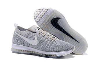 Мужские кроссовки Nike Zoom All Out Flyknit Grey   найк зум серые