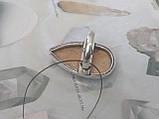 Кольцо с камнем пейзажная яшма капля 17,5 размер в серебре. Кольцо с яшмой. Индия!, фото 5