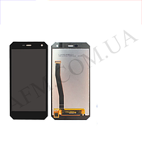 Дисплей (LCD) Nomu S10/  Archos 50 Saphir/  myPhone Hammer Energy с сенсором черный