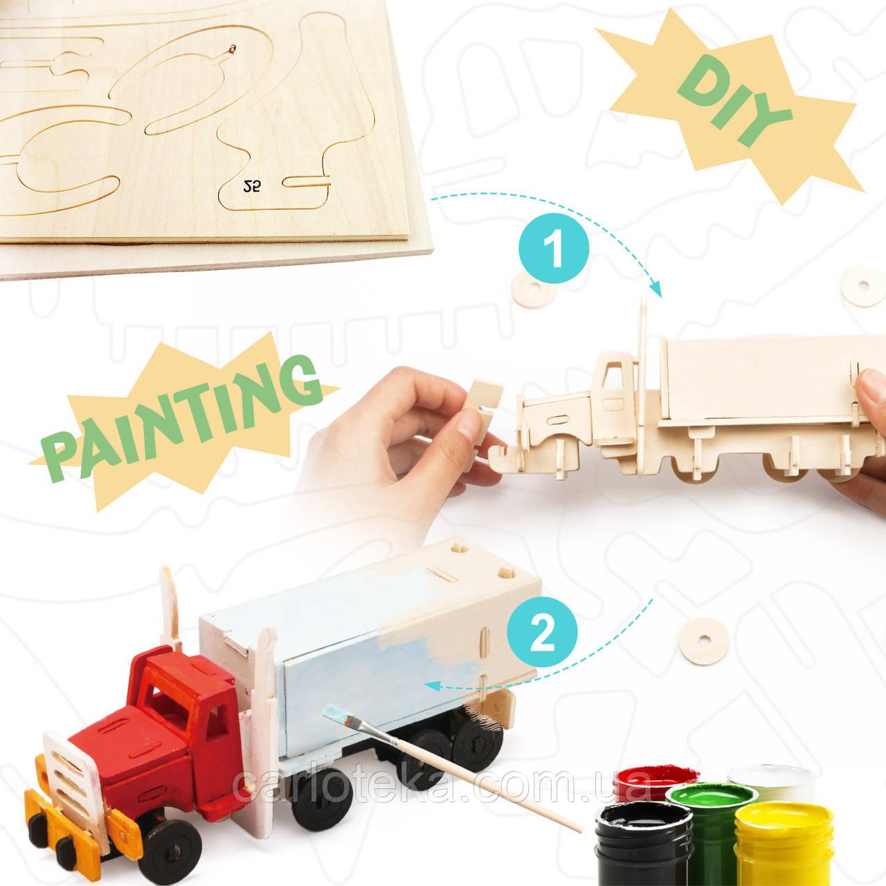 Деревянный 3D конструктор-раскраска Карусель: продажа ...
