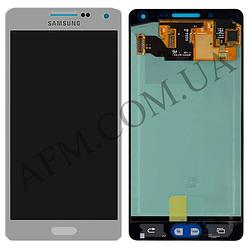 Дисплей (LCD) Samsung GH97- 16679C A500F Galaxy A5 Duos (2015) с сенсором серебро сервисный