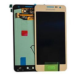 Дисплей (LCD) Samsung GH97- 16747F A300F Galaxy A3 (2015) с сенсором золотой сервисный