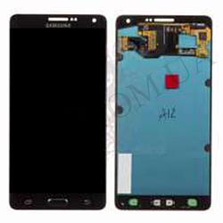 Дисплей (LCD) Samsung GH97- 16922B A700F Galaxy A7 Duos (2015) с сенсором чёрный сервисный