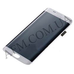 Дисплей (LCD) Samsung GH97- 17162B G925F Galaxy S6 Edge с сенсором белый с рамкой сервисный