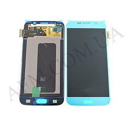 Дисплей (LCD) Samsung GH97- 17260D G920F Galaxy S6 с сенсором голубой сервисный