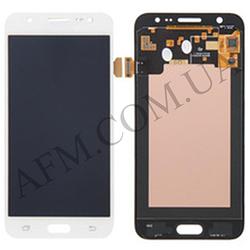 Дисплей (LCD) Samsung GH97- 17667A J500H Galaxy J5 с сенсором белый сервисный