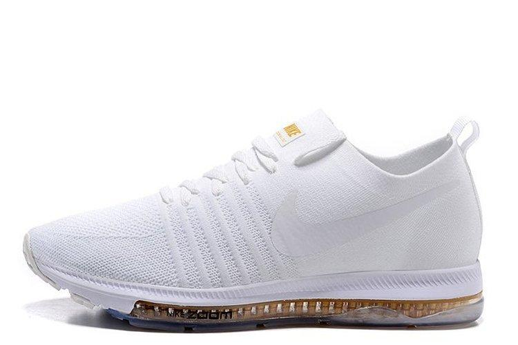 fa01d897 Мужские кроссовки Nike Zoom All Out Flynit All White   найк зум белые