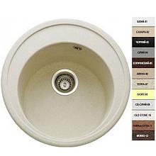 Гранитная кухонная мойка Argo TONDO (510) 15 различных цветов