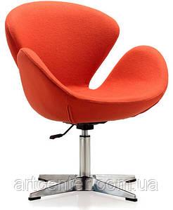 Кресло для ресторана, кресло дизайнерское, кресло для посетителей (СВАН оранжевый)
