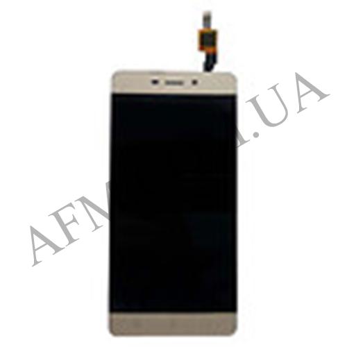 Дисплей (LCD) Xiaomi Redmi 4 с сенсором золотой