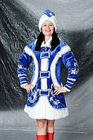 Новогодний костюм Стильная Снегурочка велюр