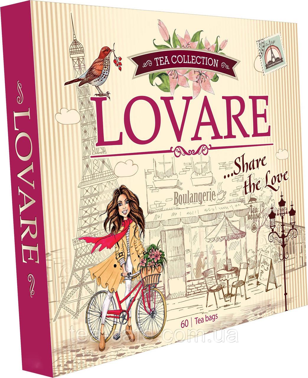 Колекція чаю Lovare 12 видів по 5 шт 110 гр.