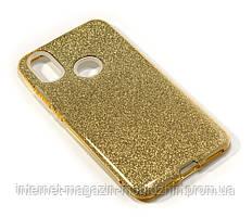 Чехол силиконовый Xiaomi Mi A2 / Mi6x золотой Remax Glitter
