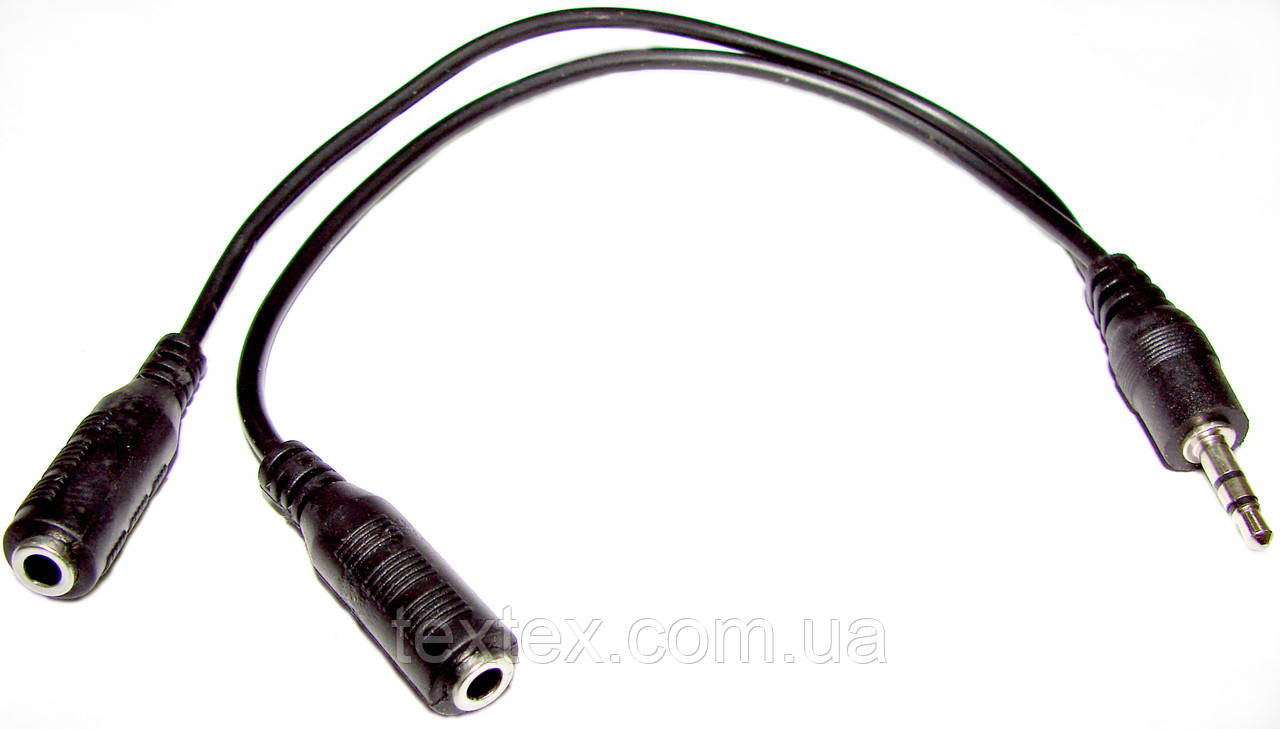 Переходник-разветвитель 3,5М/2 X 3.5F