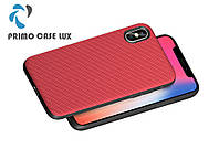 Чехол накладка Primo Case Lux для Apple iPhone X / iPhone XS - Red