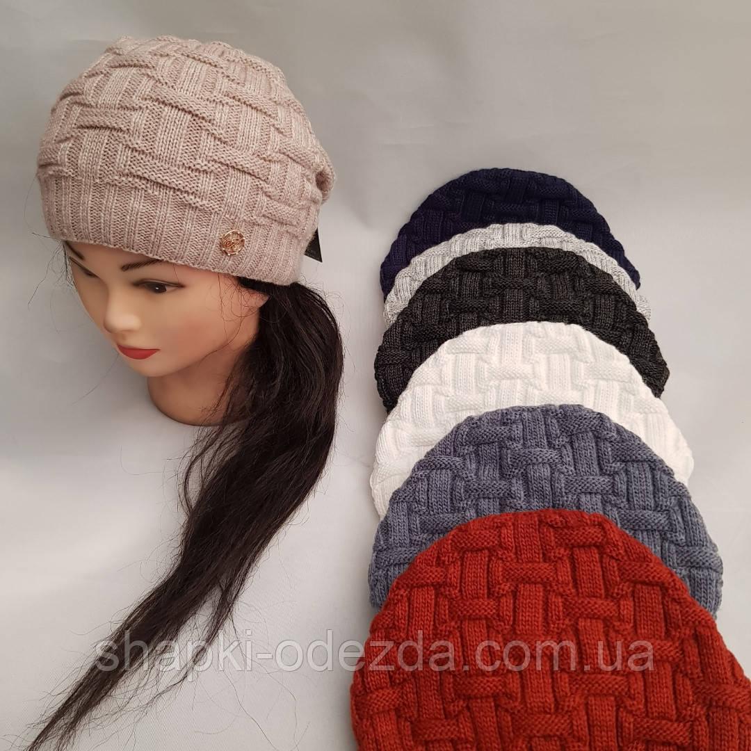 молодежная вязаная шапка для девочки леся продажа цена в одессе