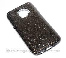 Чехол силиконовый Samsung J260 J2 Core 2018 Remax Glitter черный