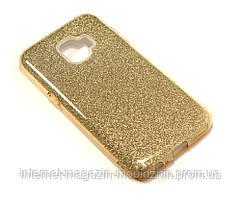 Чехол силиконовый Samsung J260 J2 Core 2018 Remax Glitter золотой
