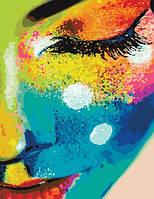 Картина по номерам. Женщина в красках