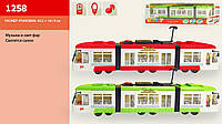 Трамвай, муз., свет., батар., в кор. 48,5*7,5*13,5см (36шт/2)