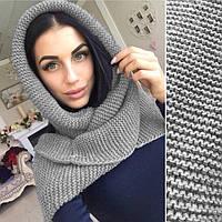 Шарф - хомут, женские вязаные шарфы, разные цвета