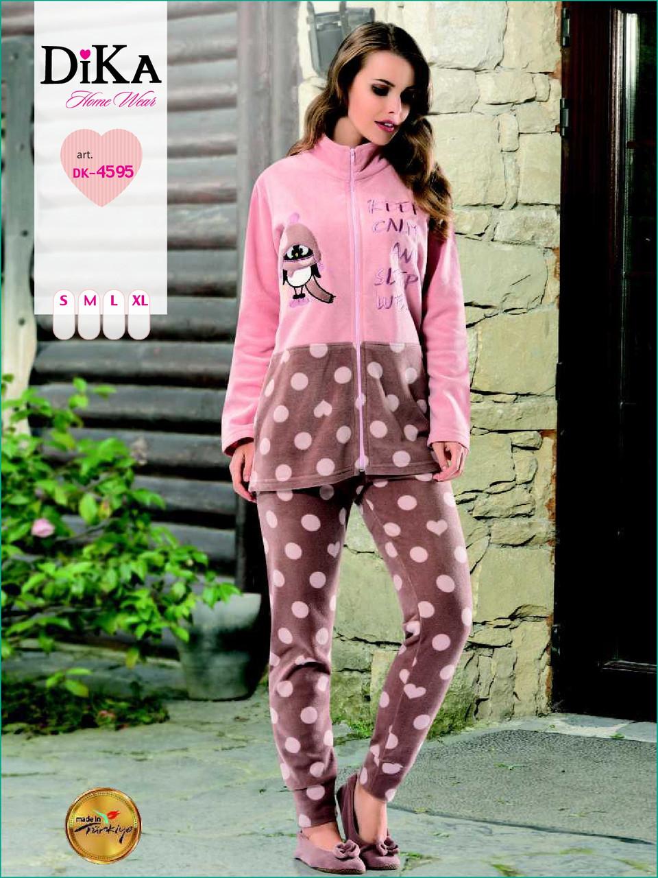 Пижама женская велсофт 4595 Dika