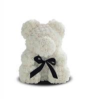 Мишка из роз 40 см белый, фото 2
