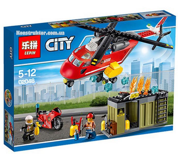 """Конструктор Lepin 02046 """"Пожарная команда быстрого реагирования"""" 305 деталей. Аналог LEGO City 60108"""