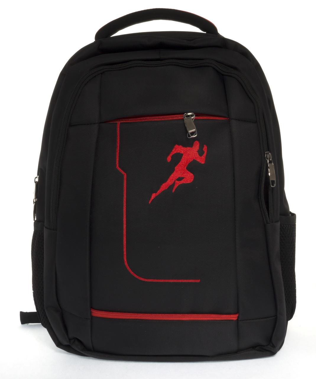 Місткий якісний спортивний рюкзак HUANTU art. 1012 чорний