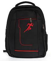Місткий якісний спортивний рюкзак HUANTU art. 1012 чорний, фото 1
