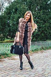 Женская кожаная сумочка 20 черный замш/флотар 012005-0101-01