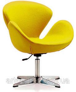 Кресло для ресторана, кресло дизайнерское, кресло для салона красоты (СВАН жёлтый)