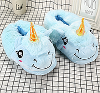 Тапочки-кигуруми голубые Единороги
