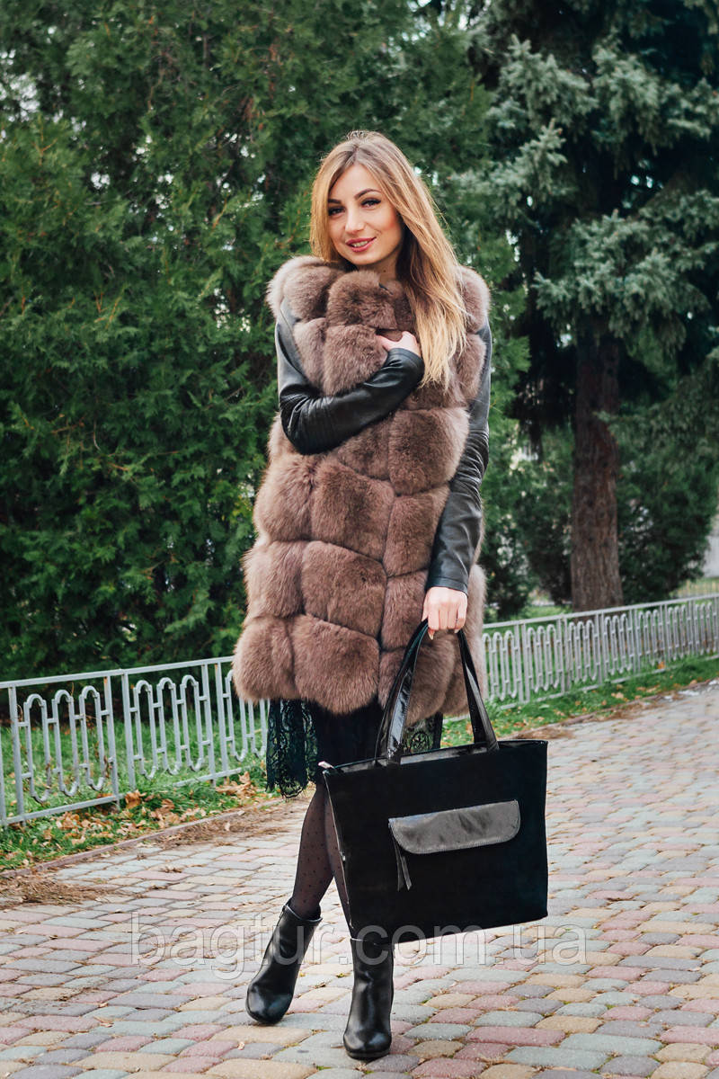 Женская сумка из натуральной кожи 07 замша/наплак 010705-03-01-01
