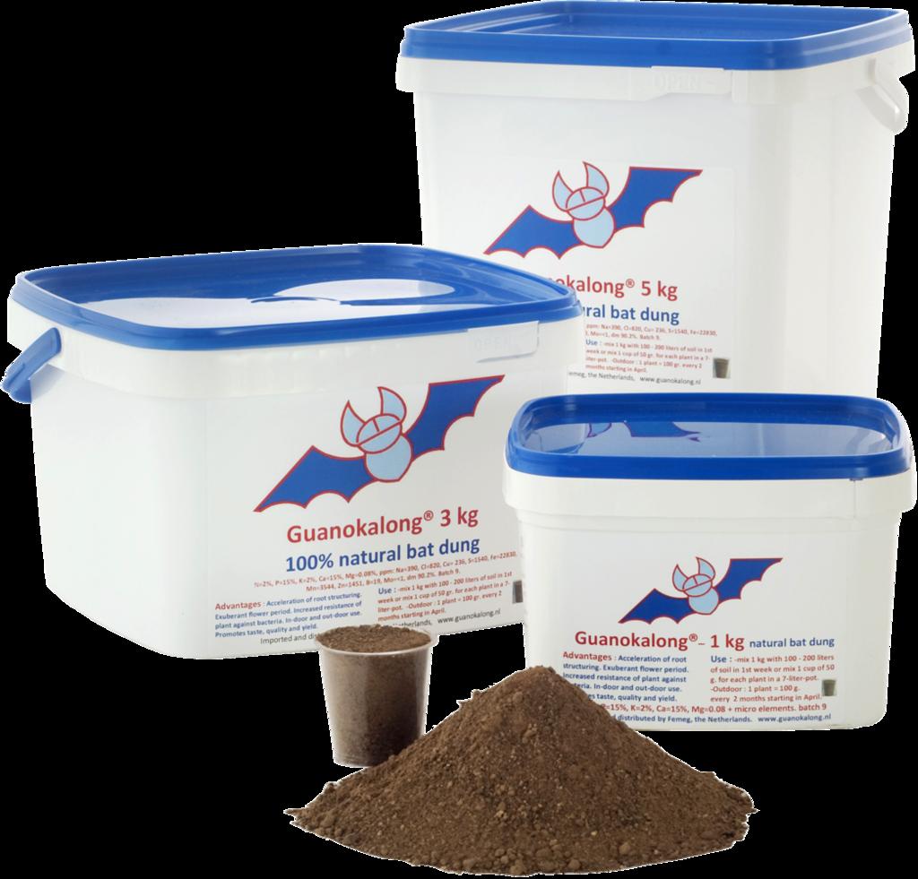 Органическое удобрение Guanokalong Powder 1kg (собст.фас)