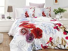 Комплект постельного белья сатин 3d First Choice евро размер Stela