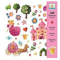 Наклейки детские Djeco 160 шт. Принцесса DJ08830