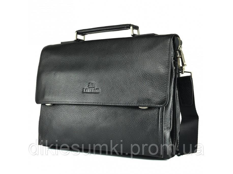 6f021492eab2 Мужской кожаный портфель черного цвета LareBoss 49611-5 black в ...