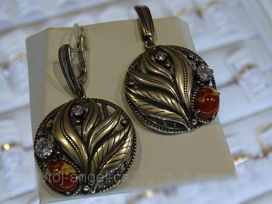 Серебряные серьги с яшмой