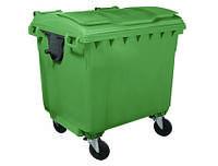 Пластиковый контейнер 1100 л с плоской крышкой