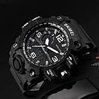 Тактические мужские часы Skmei  1155 HAMLET Black, фото 7