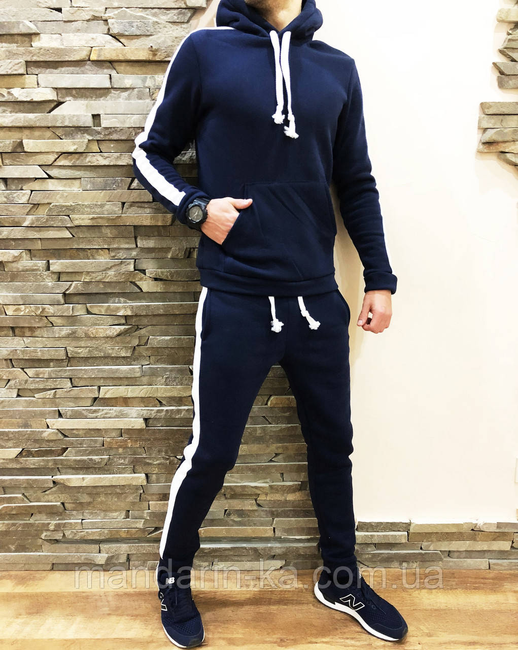 Мужской утепленный спортивный  костюм  с лампасами 4 цвета