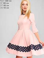 Женское расклешеное платье в складку (3170 lp)