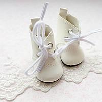 Обувь для кукол, сапожки белые - 5*2.8 см