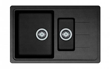 Кухонная мойка AquaLine Venezia 78-50 ONX Черный, фото 2