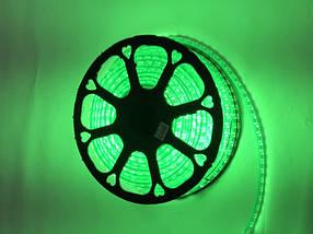Светодиодная лента зеленая 220В SMD 2835/120 IP65 с линзой Код.59391