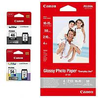 Комплект Canon No.46: картридж PG-46+картридж CL56+ бумага Canon GP-501 50 л