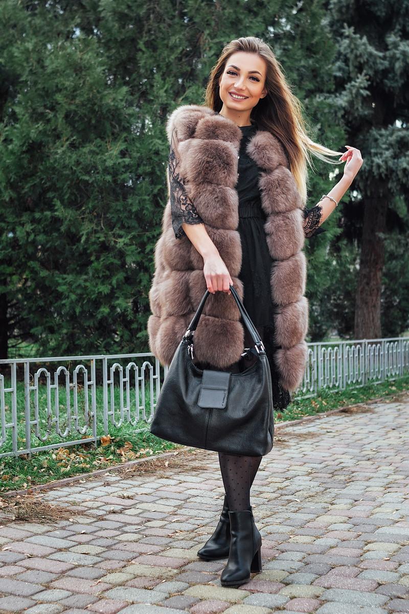 Кожаная сумка женская 39 черный флотар 013901-0301